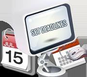 Set deadlines icon